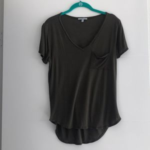 Charlotte Russe Army Green Pocket Tee